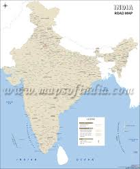 Hyderabad India Map by India Road Map Wall Map Of India Roads