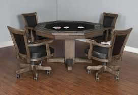 poker game table set plank and hide rustic poker table robbies billiards
