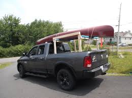nissan frontier kayak rack the canoe is tied to the rack and to the tie down loops in the bed
