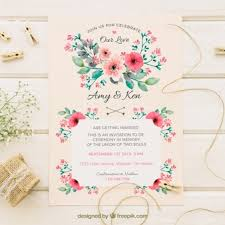 What To Write On A Wedding Invitation Postcard For A Wedding Invitation Vector Free Download