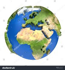Europe On Map by Earth World Map Africa Europe On Stock Illustration 248447200
