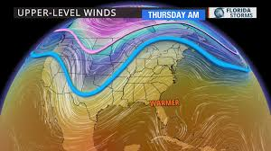 Jet Stream Map Brief January Thaw Ends This Weekend Florida Storms