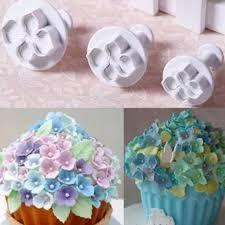 3pcs set silicone hydrangea fondant cake decorating sugarcraft