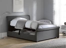 Ottoman Bedroom Furniture Wilson Grey Fabric Ottoman Bed Frame Upholstered Bed Frame Grey