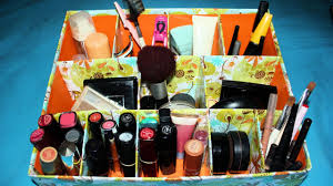 how to create an easy cardboard makeup organizer diy home