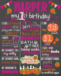 pumpkin birthday chalkboard first birthday pumpkin chalkboard