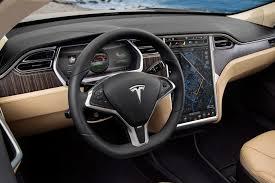 Tesla Carbon Fiber Interior Best All Electric High Tech Car Tesla Model S Pcworld