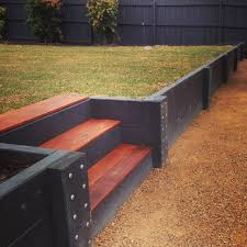 Retaining Walls Geelong Timber Precast Concrete Brick - Timber retaining wall design