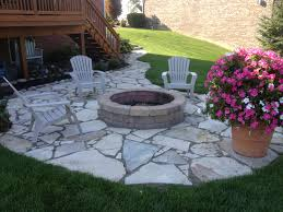 Fire Pit Backyard Designs by Barrington Backyard Flagstone Fire Pit Patio Traditional Patio