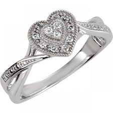 heart fashion rings images Sterling silver cubic zirconia heart ring size 5 cz fashion jpeg