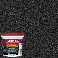 black grout tile setting materials the home depot