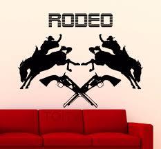 online get cheap western horse wall murals aliexpress com rodeo wall sticker cowboy poster horse vinyl decal home interior decoration wild western art mural