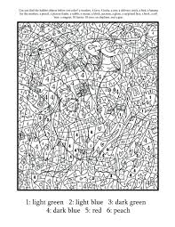 free printable coloring pages for toddlers hard color by number