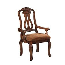 d553 03a ashley furniture dining wood back arm chair