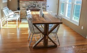 7 diy farmhouse tables with free plans 7 diy farmhouse dining room tables all have free downloadable plans build your own
