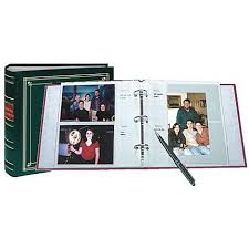 photo albums with memo area pioneer leather 3 ring bi directional memo album 200 photos