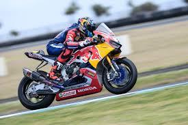 superbike honda red bull honda world superbike team wraps up pre season testing at