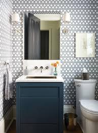 Top  Best Small Bathroom Wallpaper Ideas On Pinterest Half - Designer small bathrooms