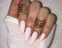 how to do ballerina shaped acrylic nails easily at home pak