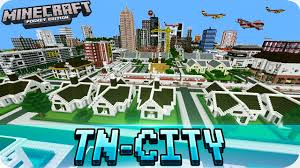 Minecraft City Maps Minecraft Pe Maps Huge Tn City Map With Download Mcpe 1 0