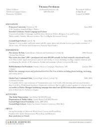 undergraduate resume template undergraduate resume sle sle resumes for college students