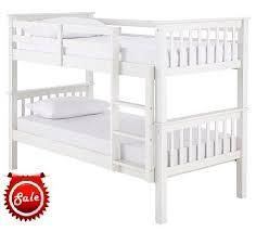 GFW Novaro White Bunk Bed - White bunk beds uk
