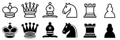 White Chess Set File Chess Pieces Sprite Svg Wikimedia Commons