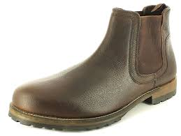 red tape new mens brown red tape leather chelsea boots elasticated