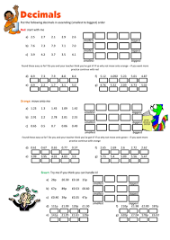 ordering decimals worksheet by floppityboppit teaching resources