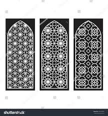 Door Pattern Traditional Arabic Window Door Pattern Vector Stock Vector