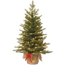 White Christmas Tree With Black Decorations National Tree Company 3 Ft Nordic Spruce Artificial Christmas