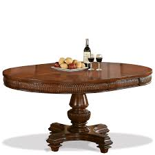 windward bay round oval pedestal dining table by riverside home