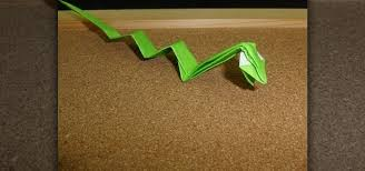 Origami Snake - how to fold an origami snake from the zodiac 皓 origami