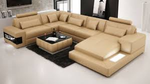 Large Leather Sofa Modern Large Leather Sofa Corner Suite New Rrp 5499 Sandbeige Ebay