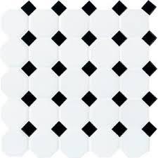 daltile matte white with black dot 12 in x 12 in x 6 mm ceramic
