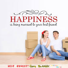aliexpress com buy happiness married quotes wall stickers home