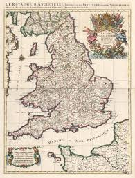 Sussex England Map by 17th Century Map Of England By Jaillot Hjbmaps Com U2013 Hjbmaps