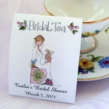 bridal tea party favors shower teabag favors bridal tea tea party set of 25