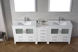 Modern Bathroom Vanity Sets by Virtu Usa Dior 90 Double Bathroom Vanity Set In White Bathtubs Plus