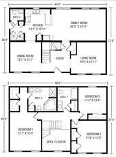 simple 2 story house floor plans interior design