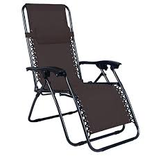 Zero Gravity Patio Chairs by Odaof Adjustable Outdoor Zero Gravity Chair Brown Our Rating