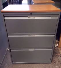 heavy duty 3 drawer metal lateral filing storage cabinet with wood