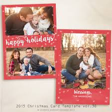 2016 christmas card templates vol 14 7x5 inch card template