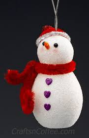 a snowman craft for the diy a glittering snowman ornament