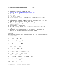 balancing equations worksheet answer key