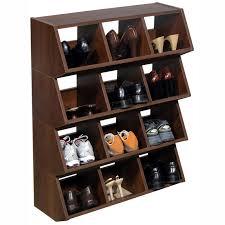 Garage Shoe Storage Bench Unique Wood Stackable Shoe Bin Storage For Garage Decofurnish