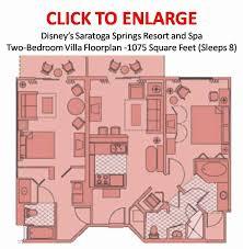 disney saratoga springs treehouse villas floor plan disney s saratoga springs resort spa 2 bedroom villa floor plan