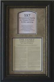 framed family proclamation family proclamation frame for the home family