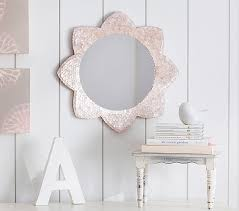 Floor Mirror Pottery Barn Small Pink Sunflower Capiz Mirror Pottery Barn Kids