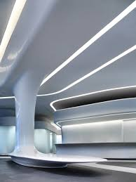 galaxy soho zaha hadid futuristic interior and white lead